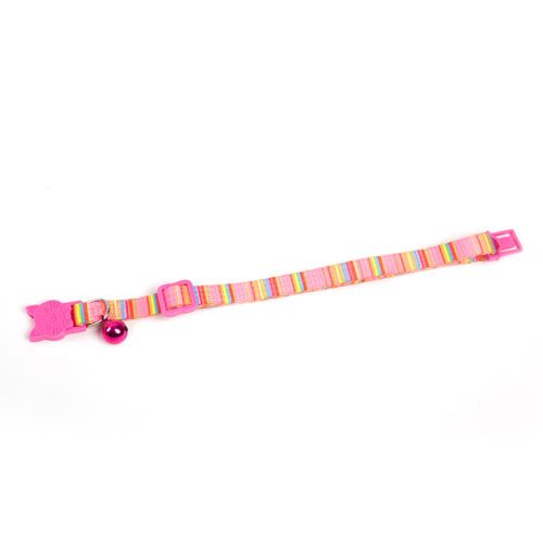 MULTI COLORED STRIPE CAT COLLAR