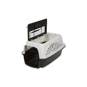 2 Door Top Load Kennel 19 inch up to 10 lbs Pearl White