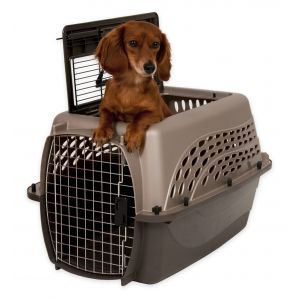 Petmate 2 Door Top Load Kennel 24 inches up to 15 lbs Pearl