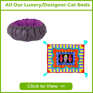 see all our luxury designer cat beds and blankets