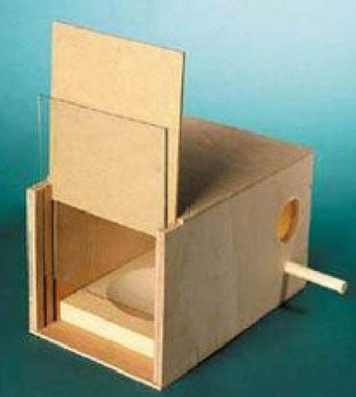 BUDGIE NEST BOX INCLUDING PERSPEX FRONT