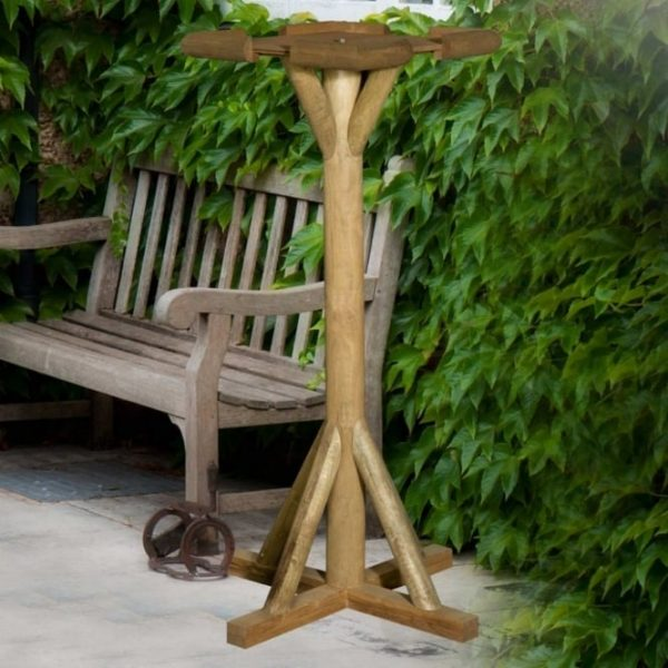THC FLAT RUSTIC TOP BIRD TABLE