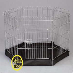 6 SIDED METAL PET PEN INCLUDES BASE