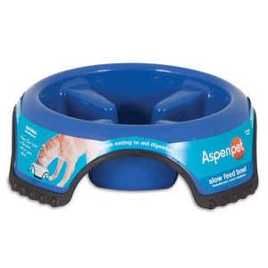 SKID STOP SLOW FEED ANTI GOBBLE BOWL