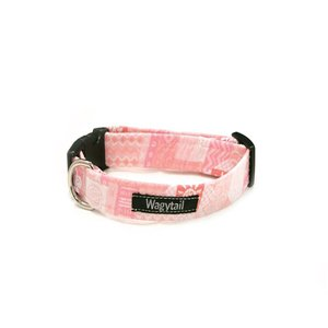 AZTEC PATCHWORK CORAL DOG COLLAR