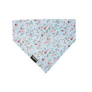 FLORAL BLUE DOG BANDANA