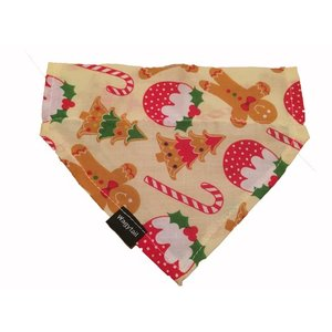 GINGERBREAD CHRISTMAS DOG BANDANA