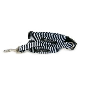 STRIPE NAVY DOG COLLAR
