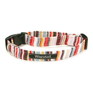 STRIPE RAINBOW DOG COLLAR