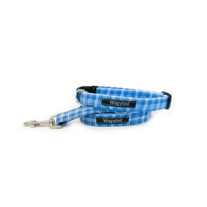 TARTAN BLUE DOG COLLAR