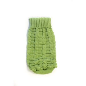 GREEN CABLE KNIT JUMPER