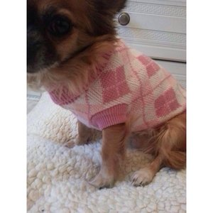 PINK DIAMOND DOG JUMPER