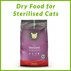 HUSSE DRY FOOD FOR STERILISED CATS