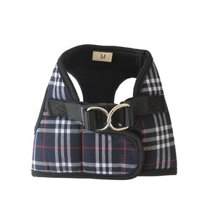 BLACK PLAID STEP IN HARNESS