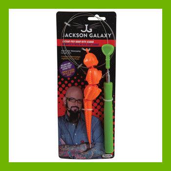 JACKSON GALAXY GROUND PREY TELESCOPING WAND WITH IGUANA
