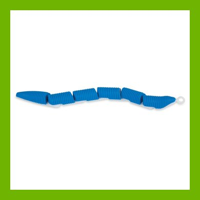 Jackson Galaxy Ground Toy Worm blue