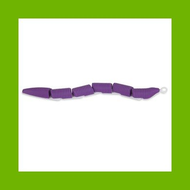 Jackson Galaxy Ground Toy Worm purple