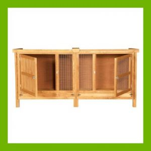 HANDMADE 8 FT LONG SINGLE RABBIT HUTCH